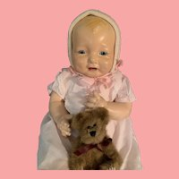 Large Vintage Effanbee Bubbles Composition Baby Doll