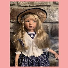 Vintage Gaby Jaques Doll artist Doll 35 inches Playpal size