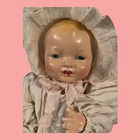 "Vintage Effanbee Bubbles Composition Baby Doll 15"" Small Size"
