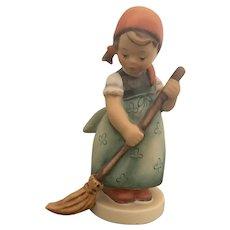 Vintage Goebel Hummel Figurine Little Sweeper Girl