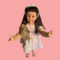 Dark Brunette  Hair Ideal Patti Playpal Walker Doll Play pal