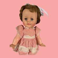 HTF Vintage Ideal Tiny Baby Kissy Doll 1960's Works