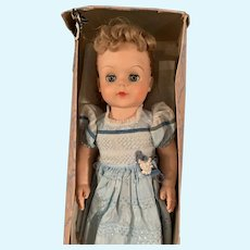 """Vintage 1950's Eegee Mama Rubber Doll in Box 19"""""""