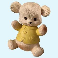Vintage Edward  Mobley 1961 Rubber Squeak Teddy Bear Toy Sleep Eyes Turnable Head