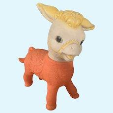 Vintage Sun Rubber Squeak Toy Donkey