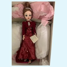 Vintage Madame Alexander Red Sequin Gown Cissy Doll MIB