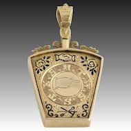 c.1886 Royal Arch Keystone Masonic Fob - 9k Yellow Gold Antique Pendant Masons