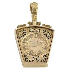 c.1886 Royal Arch Keystone Masonic Fob - 9k Yellow Gold Antique Pendant Masons