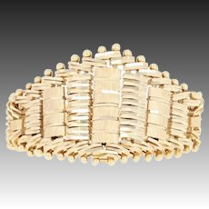 Flexible Woven Gold Men's Ring - 14k Yellow Gold Intricate Moves