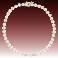 "Diamond Tennis Bracelet 7"" - 14k Yellow Gold Round Cut 4.50ctw"