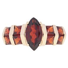Garnet Ring - 14k Yellow Gold Size 6 Marquise 2.24ctw