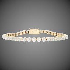 "1.25ctw Round Brilliant Diamond Bracelet 6 3/4"" - 14k Yellow Gold Tennis"