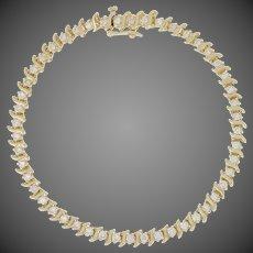 "1.98ctw Round Brilliant Diamond Bracelet 7 1/2"" - 14k Yellow Gold Tennis"