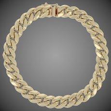 "Curb Chain Bracelet 8"" - 10k Yellow Gold Men's"