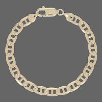 "Anchor Chain Bracelet 7"" - 14k Yellow Gold Men's Italy"