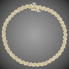 "1.00ctw Round Brilliant Diamond Bracelet 6 3/4"" - 14k Yellow Gold Tennis"