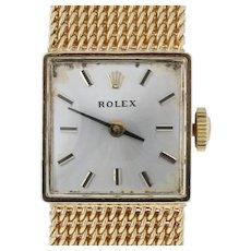 Rolex Yellow Gold Watch - 14k Ladies Mechanical 1400 2 Yr. Warranty 1950s