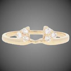 .18ctw Round Brilliant Diamond Enhancer Wedding Band 14k Gold Women's Guard Ring