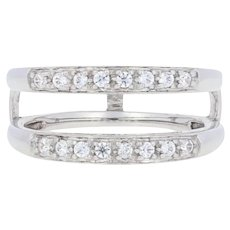 .25ctw Round Cut Cubic Zirconia Enhancer Wedding Band 14k Gold Wrap Jacket Ring