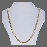 """Cuban Curb Chain Necklace 26 1/2"""" - 10k Yellow Gold Box Clasp"""
