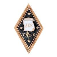 Delta Kappa Epsilon Badge -14k Yellow Gold Enamel 1904 Yale Fraternity Pin