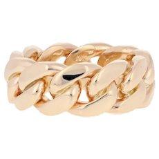 Men's Cuban Chain Ring - 10k Yellow Gold Band