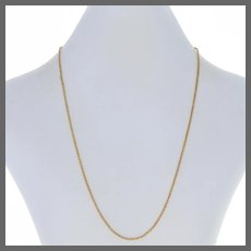"Yellow Gold Twisted Foxtail Chain Necklace 17 3/4"" - 14k Spring Ring Clasp"