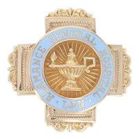 Yellow Gold Alamance General Hospital Badge - 10k NC Vintage L.P.N. Nursing Pin
