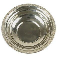 "Dunkirk Silversmiths Serving Bowl Fruit Bowl Sterling Silver 45 Wreath Rim 10"""