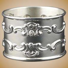 Gorham Napkin Ring - Sterling Silver Scroll Round 1150