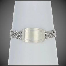 "Dolan Bullock ID Bracelet 7"" - Sterling Silver Triple-Strand Curb Engravable"