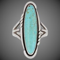 Turquoise Bell Trading Co. Ring - Sterling Silver Native American Solitaire