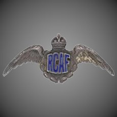 WWII Royal Canadian Air Force Sweetheart Pin - Sterling Vintage RCAF Military