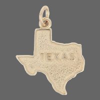 Yellow Gold Texas State Pendant - 14k United States Travel Souvenir
