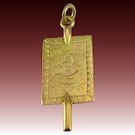 Antique PHI BETA KAPPA Fob - fraternity 1887 Lehigh 10k Yellow Gold Key Fob Greek