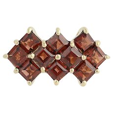 Garnet Ring - 10k Yellow Gold Women's Size 6 1/4 January Birthstone 1.60ctw