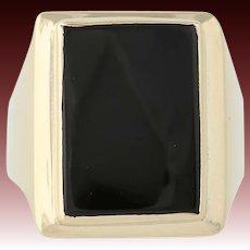 Onyx Ring - 14k Yellow Gold Size 9 3/4 Men's