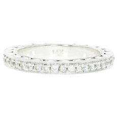 Diamond Eternity Band -14k Gold Wedding Anniversary Ring Size 6 1/2 Round .70ctw