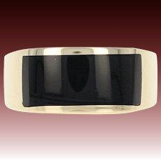 Men's Onyx Ring - 14k Yellow Gold Size 9 1/2