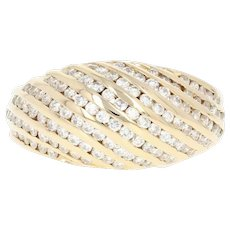 Diamond Dome Ring - 14k Yellow Gold Channel Set Round Brilliant 1.00ctw