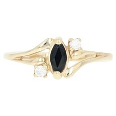 Cubic Zirconia Bypass Ring - 10k Yellow Gold CZs Women's Size 7