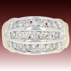 Tapered Diamond Ring - 14k White Gold Round Brilliant .75ctw