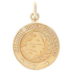 Vintage Founding States Pendant - 10k Gold Atlantic Coast Conference Charm