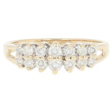 Tiered Diamond Ring - 14k Yellow Gold Round Brilliant .50ctw