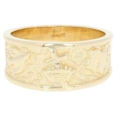 Men's Covenant Faith Ring - 14k Gold Christian Gift Salvation Band Size 8 3/4