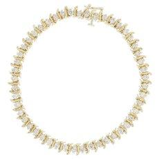 "Diamond Tennis Bracelet 7 1/2"" - 14k Yellow Gold Round Cut 3.00ctw"