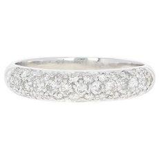 Diamond Band Ring - 14k White Gold Round Brilliant .75ctw