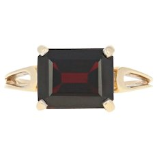 Garnet Solitaire Ring - 14k Yellow Gold Size 6 Women's 3.50ct