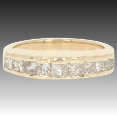 Diamond Ring - 14k Gold Wedding Band Anniversary Princess 1.00ctw