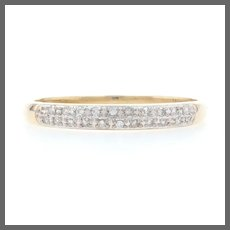 Yellow Gold Diamond Wedding Band - 10k Single Cut .10ctw Stackable Ring